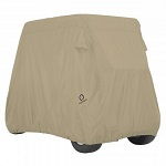 Classic Accessories Golf Cart Storage Cover Khaki for 2 Person Carts Short Roof