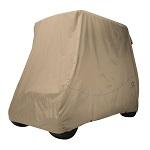 Classic Accessories Fairway 2 Person Golf Cart Quick-Fit Storage Cover | Khaki