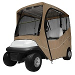 Classic Accessories Fairway 2 Person Golf Cart Travel Cab Enclosure | Khaki
