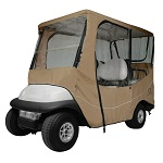 Classic Accessories Fairway 4 Person Golf Cart Travel Cab Enclosure | Khaki