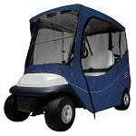 Classic Accessories Fairway 2 Person Golf Cart Travel Cab Enclosure | Navy