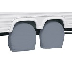 "RV Trailer Wheel Storage Covers 24"" to 26.5"" Tall Tire 