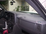 Chevrolet S10 Truck 1986-1993 No Vents Carpet Dash Cover Mat Charcoal Grey