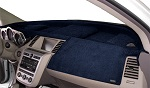 Chevrolet S10 Truck 1986-1993 No Vents Velour Dash Cover Mat Dark Blue