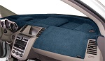 Chevrolet Chevette 1976-1987 No AC Velour Dash Cover Mat Medium Blue