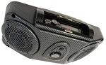 Kymco UVX Overhead Stereo Console with Speakers, Deck and Map Light Carbon Fiber