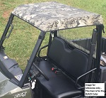 Polaris Ranger Midsize 2015+ Soft Sun Top Roof Cap Custom Made | Black