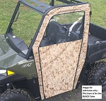 Polaris Ranger Midsize 2015+ Door Side Enclosures Doors Custom Made | Black