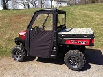 Polaris Ranger XP900 2013-2019 Soft Vinyl Side Door Enclosures Custom | Black