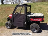 Polaris Ranger XP900 2013-2019 Soft Vinyl Side Door Enclosures Custom | Camo
