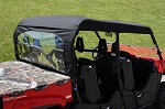 Yamaha Viking VI 6 Seat 2015+ Soft Sun Top Roof Cap Custom Made | Black