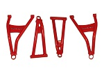 Max Clearance Front Forward A Arms Honda Pioneer 1000 | Red | MCFFA-H1P-R
