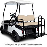 Madjax Genesis 150 Rear Flip Seat | Club Car DS 1982-Up Golf Cart | Buff