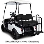 Madjax Genesis 150 Rear Flip Seat | Club Car DS 1982-Up Golf Cart | Black
