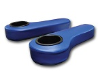 MadJax Universal Golf Cart Rear Seat Armrest Set with Cup Holders | Blue