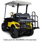 Madjax Genesis 150 Rear Flip Seat | Yamaha Drive 2007-2016 Golf Cart | Black