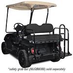 Madjax Genesis 150 Rear Flip Seat | Yamaha G22 Golf Cart | Black