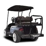 Madjax Genesis 250 Rear Standard Flip Seat   Club Car Precedent Cart   Black