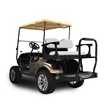 Madjax Genesis 250 Rear Standard Flip Seat | EZGO TXT 1994-Up Cart | White