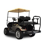 Madjax Genesis 250 Rear Standard Flip Seat | EZGO TXT 1994-Up Cart | Black