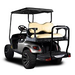 Madjax Genesis 250 Rear Deluxe Flip Seat | EZGO TXT 1994-Up Cart| Tan