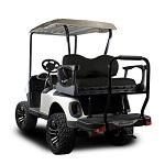 Madjax Genesis 250 Rear Standard Flip Seat   EZGO RXV 2008-Up Cart   Black