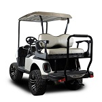 Madjax Genesis 250 Rear Deluxe Flip Seat | EZGO RXV 2008-Up Cart| Sandstone