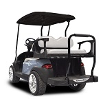 Madjax Genesis 250 Rear Standard Flip Seat | Star Cart Gof Cart | White