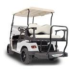 Madjax Genesis 250 Rear Deluxe Flip Seat | Star Cart Golf Cart | Almond