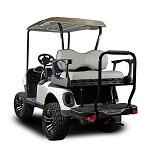Madjax Genesis 250 Rear Flip Seat | Yamaha Drive2 2017-Up Golf Cart | DLX Grey