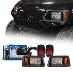 Madjax Yamaha G14-G22 Golf Cart Basic LED Light Kit w/ Tail Lights | 02-035