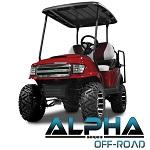 Madjax Alpha Series Offroad Front Cowl Club Car Precedent Golf Cart   Red