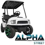 Madjax Alpha Series Street Front Cowl Club Car Precedent Golf Cart   White