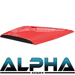 Madjax Alpha Series Hood Scoop for Club Car Precedent | Red