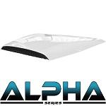 Madjax Alpha Series Hood Scoop for Club Car Precedent | White