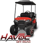 Madjax Havoc Series Offroad Front Cowl Kit Yamaha G29 Drive Golf Cart | Red