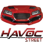 Madjax Havoc Series Street Front Cowl Kit Yamaha G29 Drive Golf Cart | Red