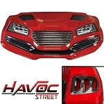 Madjax Havoc Series Street Body Kit Yamaha G29 Drive Golf Cart | Red