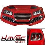 Madjax Havoc Series Street Body Kit Yamaha G29 Drive Golf Cart | Red