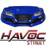 Madjax Havoc Series Street Front Cowl Kit Yamaha G29 Drive Golf Cart | Blue