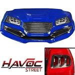 Madjax Havoc Series Street Body Kit Yamaha G29 Drive Golf Cart | Blue