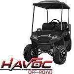 Madjax Havoc Series Offroad Front Cowl Kit Yamaha G29 Drive Golf Cart   Black