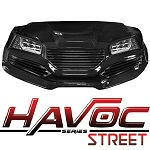 Madjax Havoc Series Street Front Cowl Kit Yamaha G29 Drive Golf Cart | Black