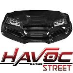 Madjax Havoc Series Street Front Cowl Kit Yamaha G29 Drive Golf Cart | Black