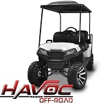 Madjax Havoc Series Offroad Front Cowl Kit Yamaha G29 Drive Golf Cart | White