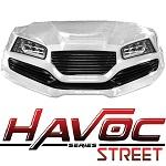 Madjax Havoc Series Street Front Cowl Kit Yamaha G29 Drive Golf Cart | White