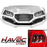 Madjax Havoc Series Street Body Kit Yamaha G29 Drive Golf Cart | White