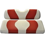 Madjax Wave White/Red Two-Tone Seat Covers | For Genesis 150 Rear Seats