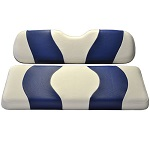 Madjax Wave White/Blue Two-Tone Seat Covers | For Genesis 150 Rear Seats