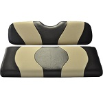 Madjax Wave Black/Tan Two-Tone Seat Covers | For Genesis 150 Rear Seats